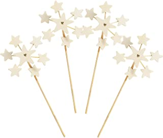 Fun Express - DIY Mini Star Pinwheels for Fourth of July - Craft Kits - DYO - Wood - Toy - Fourth of July - 12 Pieces