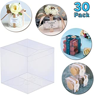 Thalia 30 Pcs PET Clear Box Transparent Boxes Candy Box Clear Gift Boxes for Wedding Party and Baby Shower Favors 4