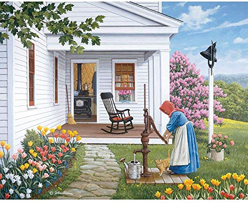 - 300 Piece Jigsaw Puzzle for Adults  - Labor of Love - 300 pc Country Farmhouse Flower Garden Jigsaw Finished size: 40cm*28cm