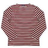 (セントジェームス)SAINT JAMES クルーネックシャツ メリディアン2 5196 メンズ 01.バーガンディ×ベージュ M [並行輸入品]