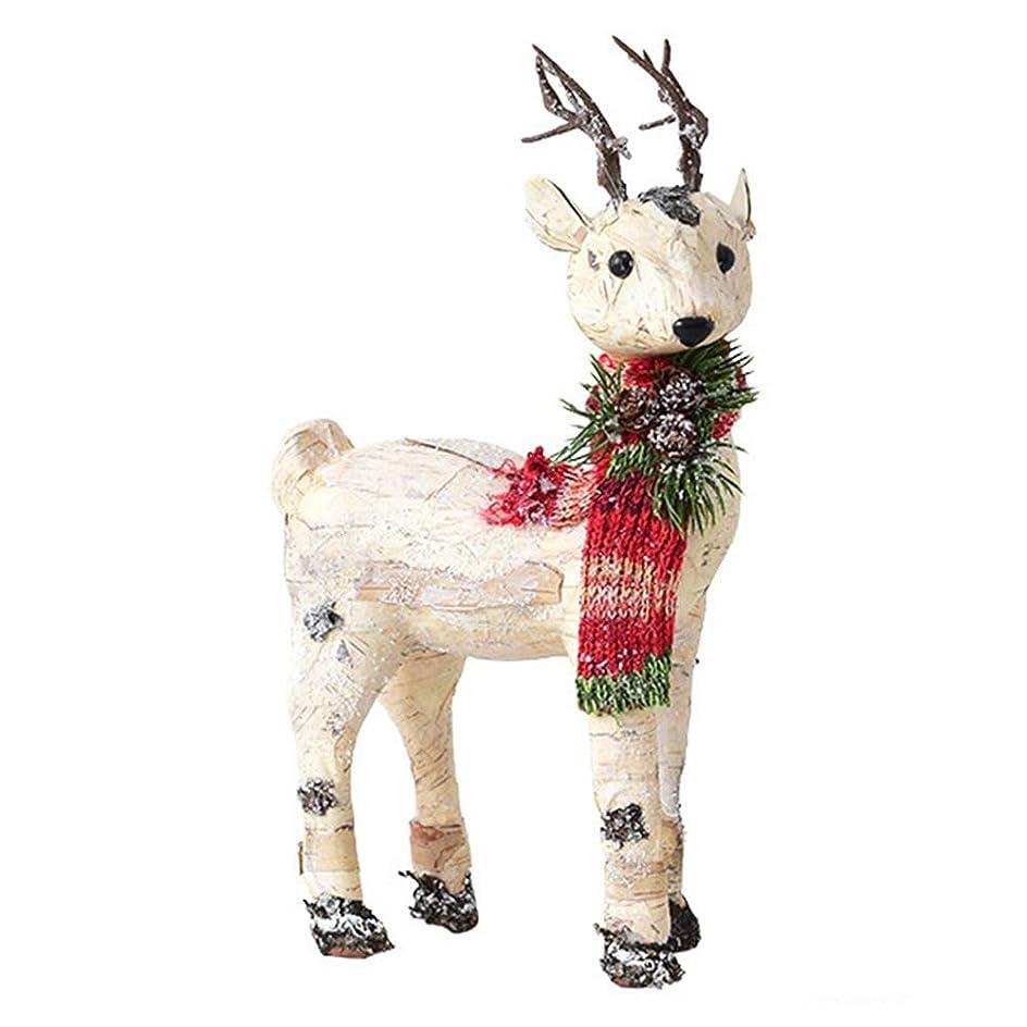 施設背骨ウェイド木製エルクのオーナメント、クリスマスデコレーション、ユニークなデザインのクリスマスオーナメント、窓辺、廊下、クリスマスツリー用のお祝いの雰囲気を作成