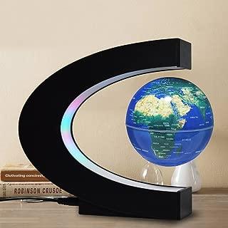 FU ZHOU Floating Globe with Colored LED Lights C Shape Anti Gravity Magnetic Levitation..