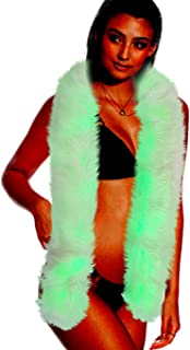 Light Up Fur Boa - Faux Fur Scarf with RGB Colorful LED Lighting Halloween Party Scarf