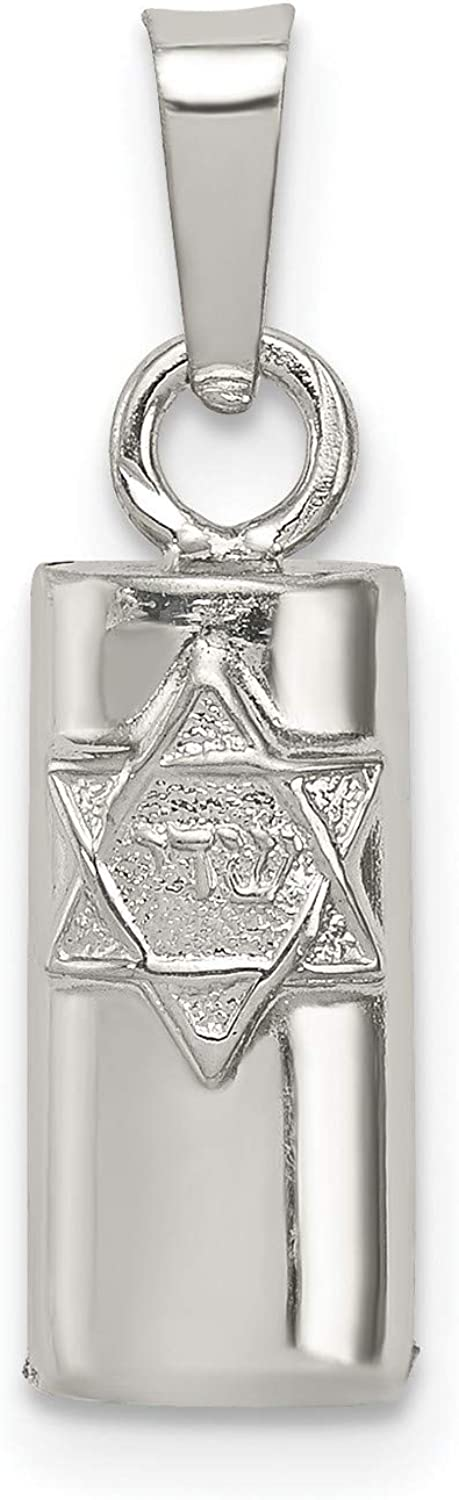 Hollow Mezuzah Pendant Max 59% OFF With Star Of David And Accent Symbol Shin Tulsa Mall