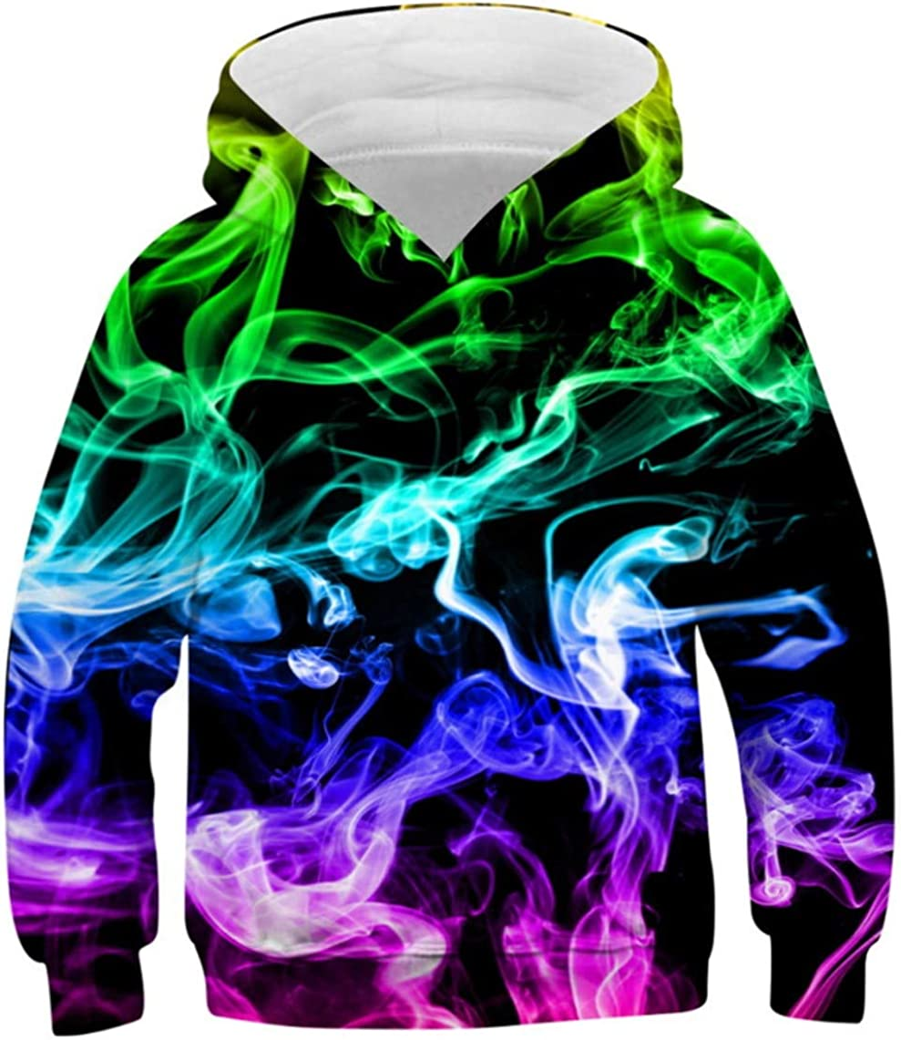 Idgreatim Girls Boys Pullover Hoodies Max 90% OFF S Hooded 3D sold out Casual Graphic