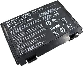 Powerost High Capacity 6-Cell 11.1V 6600mAh A32-F82 Laptop Battery for Asus K50 K50IJ K50IN F82 K50I X5D K60IJ K50IJ K50I K60I X8D Fits P/N A32-F52 L0690L6 L0A2016