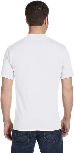 Hanes - T-shirt -  - Crew - Manches courtes Homme Blanc Blanc Xxxx-grand