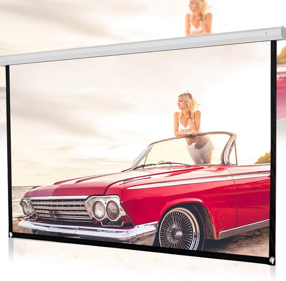 72inch Hd Projector Screen 16:9 | Portable Projection Screen for Home Cinema Theater | Foldable Anti-Crease Portable Projection Movies Screen | Fast Assembly Design No Tools Needed