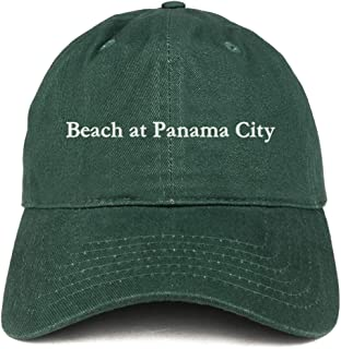 Trendy Apparel Shop Beach at Panama City Embroidered Brushed Cotton Cap