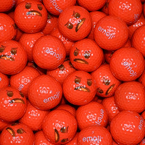 Emoji Angry Face a Forma di Palline da Golf (Confezione da 100 Pezzi, Colore: Rosso