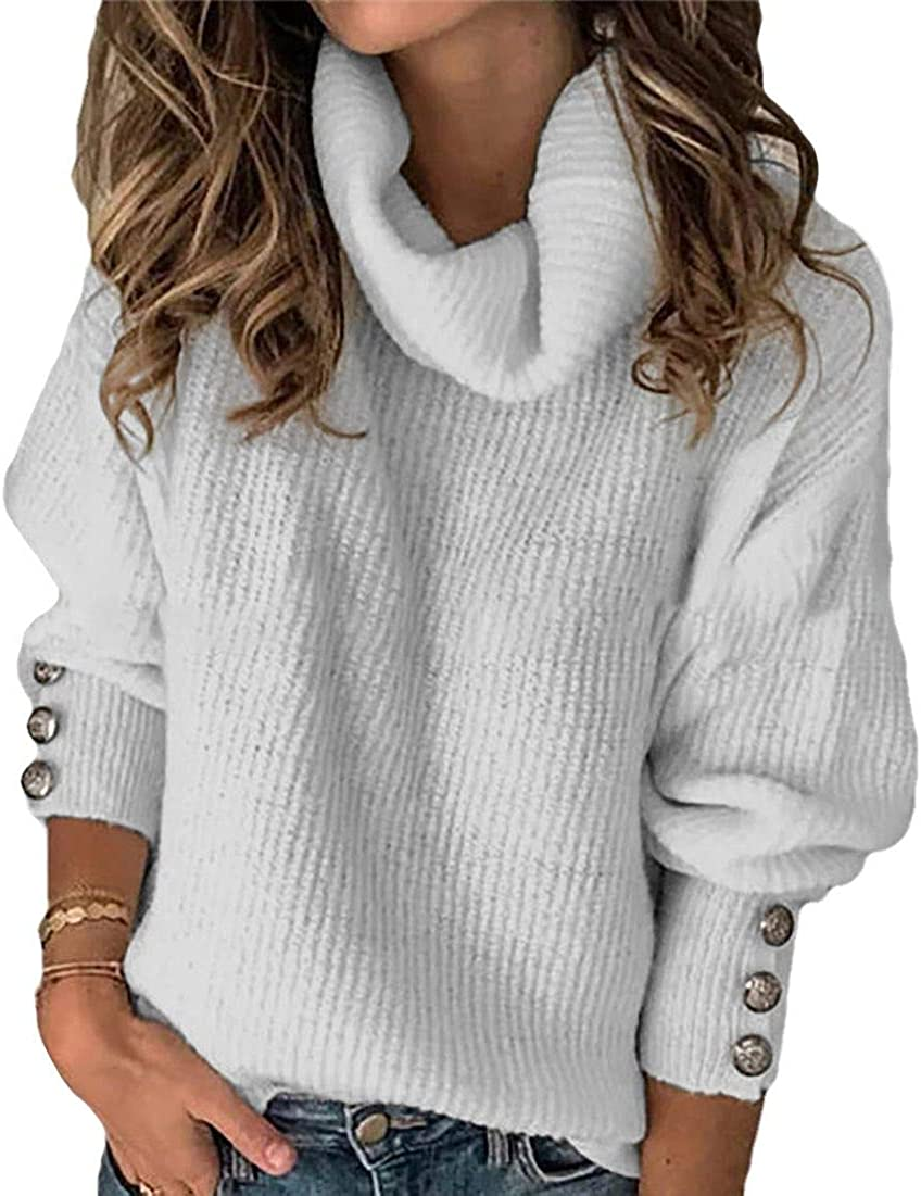 Wilngo Women Long Sleeves Off Shoulder High Low Casual Comfy T-Shirt Top Grey Large