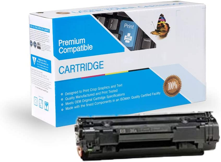 On-Site Laser Compatible MICR Replacement for HP CE285A, Works with: Laserjet P1102, M1212NF MFP (Black)