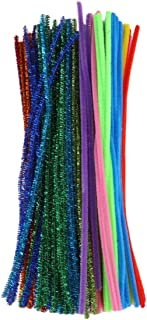 BESPORTBLE 200Pcs Color Pipe Cleaners Creative Wiggle Chenille Stems Craft Bendable Rods for Adults DIY Making(10 Colors R...