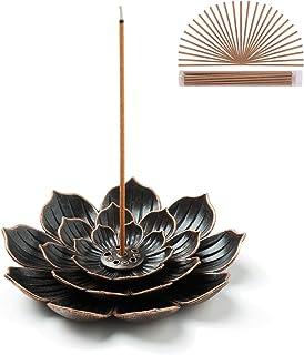 GARMOLY Brass Lotus Incense Stick Holder, Incense Sticks Burner, Incense Ash Catcher