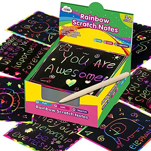 Magic Rainbow Scratch Note Pads