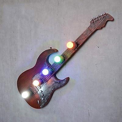 Personalidad 5 Heads Aplique de Pared Vintage Guitarra Forma Bar ...
