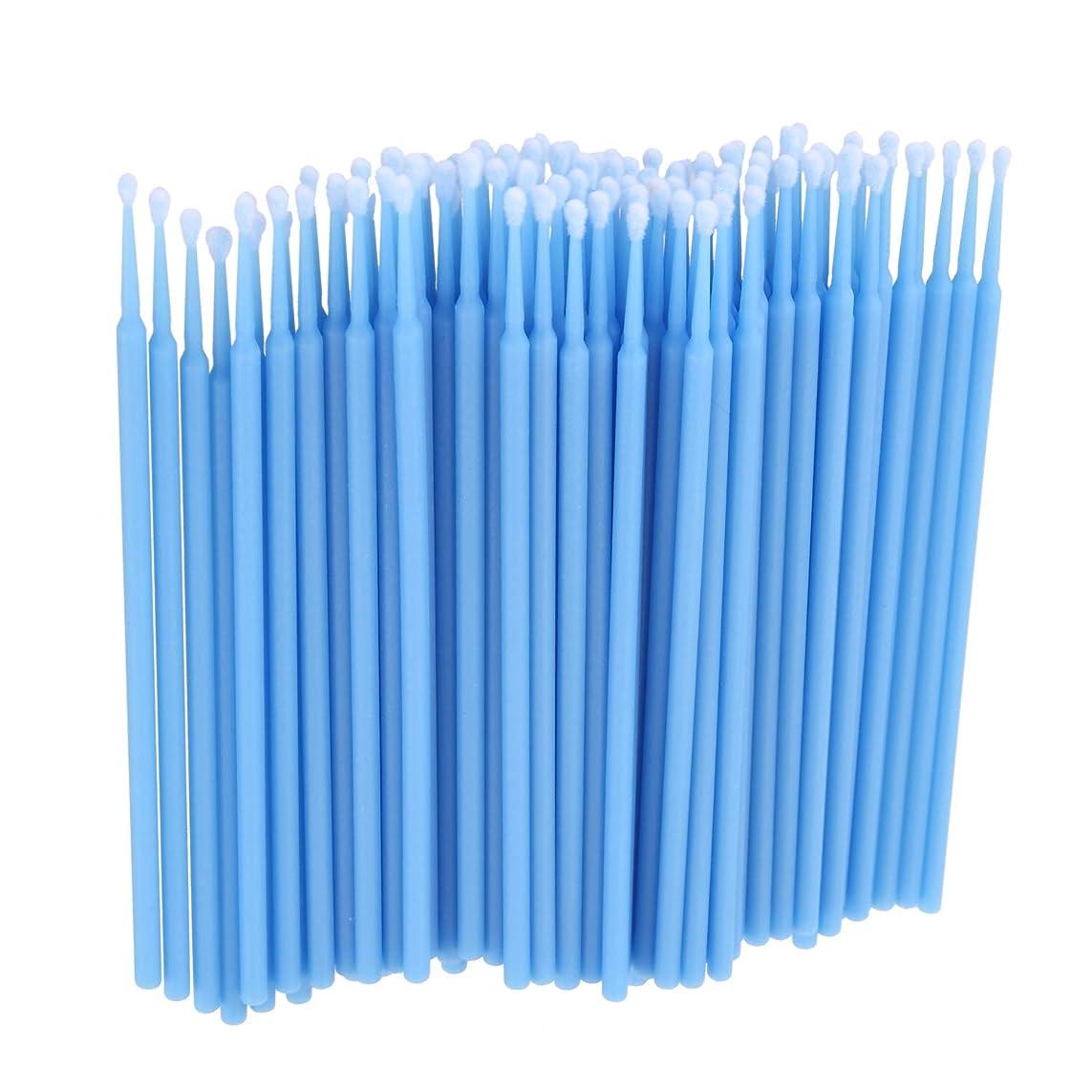 豊かな過半数哺乳類TOOGOO 100個 歯科用マイクロブラシ 使い捨て材料 歯用アプリケーター ミディアムファイン(ライトブルー)