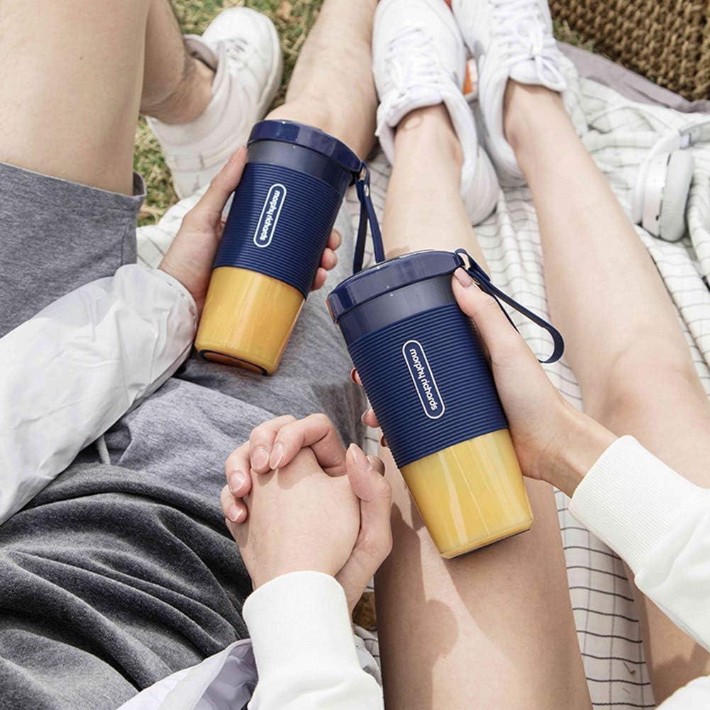 Skyjie Mixeur portable USB Rechargeable Tasse, Mixeur minimal pour smoothies, milkshakes et aliments durs, 300 ml USB maison/bureau/sport/voyage Bol à jus électrique Bleu Bleu