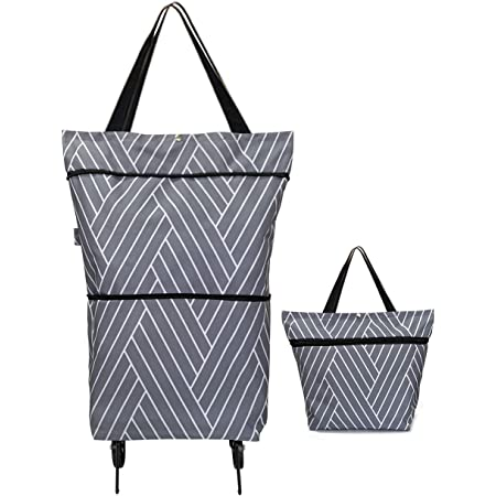 Foldable Multipurpose Shopping Bag Supermarket Reusable Grocery Bag with Wheels
