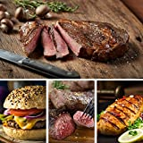 Chicago Steak Meal Set- Indulge your taste buds with the Ultimate Gourmet Grilling Assortment - Includes Savory Ribeye, Top Sirloin Steak, Angus Steak Burgers, & Lemon Herb Chicken Breasts- Finely Age