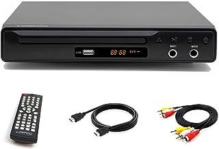 LONPOO Lecteur de DVD Région Multizone et Télécommande, NTSC/PAL, Entrée USB, Port..