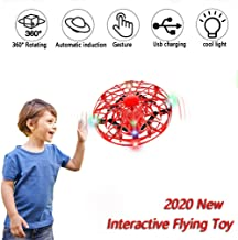 $23 » UFO Flying Toy for Kids Adults, Mini Drone with Omnidirectional Flip, Hand Operated Drones Toy with 360° Rotating, UFO Toys Easy Gesture Sensing,Gifts for Boys or Girls (Red)