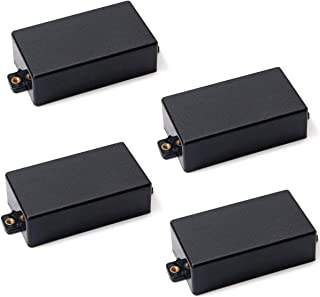 Timiy Black Plastic Sealed Humbucker Pickup Cover fit SQ ST Pickup Guitar Parts - Pack of 4