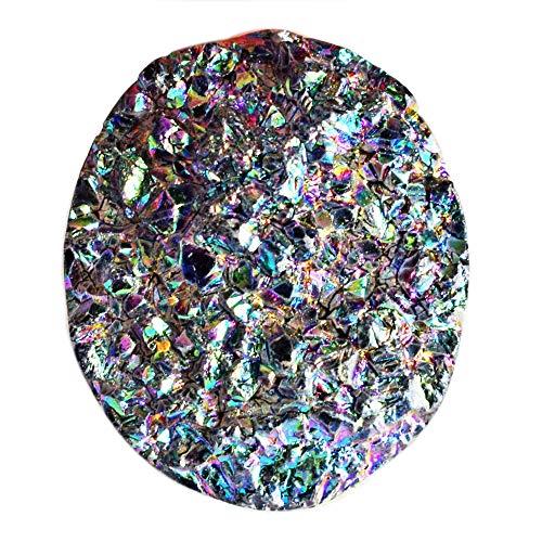 Atractivo cabujón de titanio con forma ovalada, tamaño 38 x 22 x 14 mm, para bisutería, piedra colgante nueva AG-12434