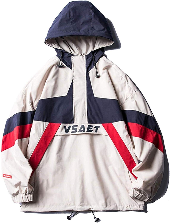 Youth Men Zipper Patchwork Bomber Jackets Coats Mens Japanese Streetwear Windbreaker Color Block Korean Clothes