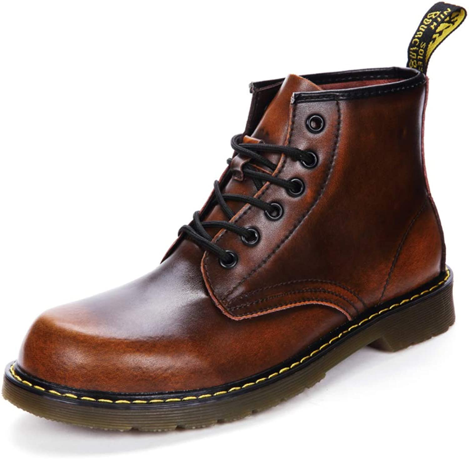 shoes House Men's Oxford Booties Retro Slip Work Boots