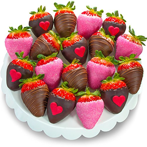 Golden State Fruit Love Bites Chocolate Covered Strawberries (Fun Size), 18 Berries