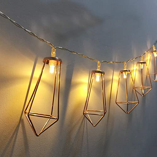 high quality Twinkle discount Star 20 LED 10ft Diamond String Lights Battery Operated, Geometric String outlet sale Lights Warm White, Rose Gold Metal Lamps Decor for Indoor Wedding Party Bedroom Christmas sale