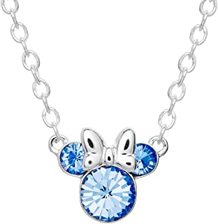 NUOHAN Womens Shinning Costume Jewelry Necklaces for Girls Pendant Necklaces SVN Series S CZ Crystal A162