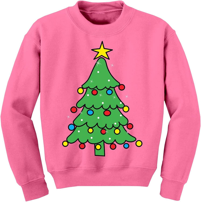 Awkward Styles Ugly Christmas Sweater for Boys Girls Kids Youth Xmas Tree Green Sweatshirt