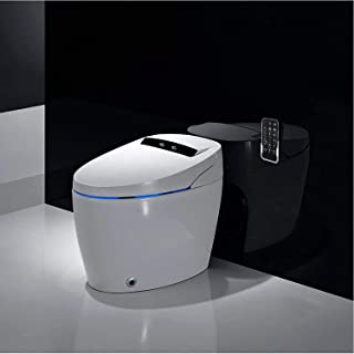 Smart Bidet Toilet 110V Elongated One Piece Advance Bidet Deluxe Design Automatic Flushing Heated Seat with Integrated Mul...
