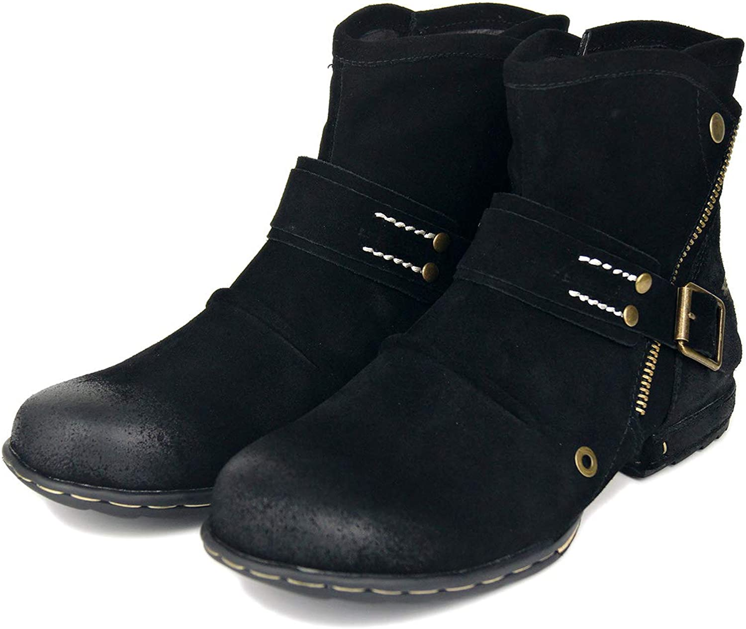 Men's Motorcycle Western Ankle Boots Riding wear Casual Outdoor Motorcycle Boots