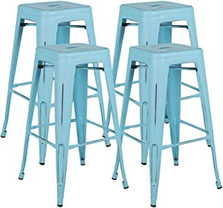 industrial backless bar stools