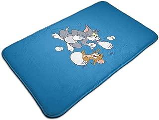 WRWNCOUeyj Lndoor and Outdoor Floor Mats,Balanced Cat and Mouse Door Mat for Entrance, Bathroom, Kitchen, Outdoor, Hall, 19.29 X 31.49 X 0.39in