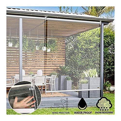 GDMING Claro Ventana/Puertas Persiana Enrollable, Impermeable Protección UV Espesar PVC Cortinas Al Aire Libre para Baño Cocina Balcón Fácil De Instalar, 41 Tamaños