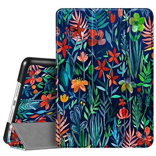 Fintie Case for iPad 7th Generation 10.2 Inch 2019 - Lightweight Slim Shell Standing Hard Back Cover with Auto Wake/Sleep Feature for iPad 10.2' Tablet, Jungle Night