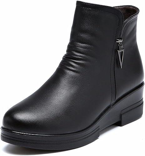 HXVU56546 Invierno Con Algodón Inferior Grueso Acolchado Suave botas mujer botas botas De Algodón Acolchado negro 39