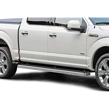 Amazon Com Aps Iboard Silver 6 Inches Running Boards Nerf Bars Side Steps Step Rails Compatible With Ford F150 2015 2020 Supercrew Cab F 250 F 350 Super Duty 2017 2020 Crew Cab Automotive