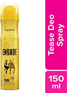 Engage Woman Deodorant, Tease, 165ml / 150ml (Weight May Vary)