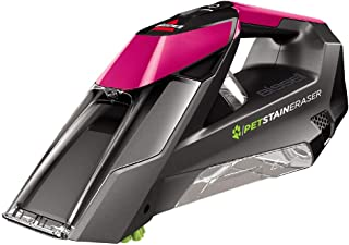 BISSELL Pet Stain Eraser Deluxe Portable Carpet Cleaner with Window Attachment, Pink