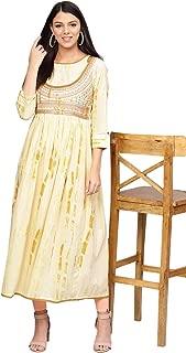 Varanga Women's cotton a-line Kurta