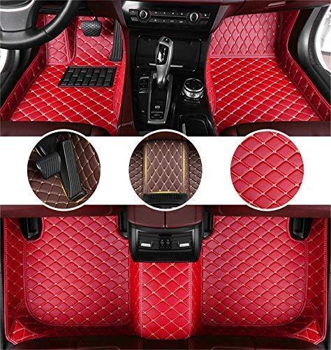 Muchkey Tappetini per Audi A4 Avant 2010-2014 Pelle Impermeabile Tappetino Interno Accessori Rosso