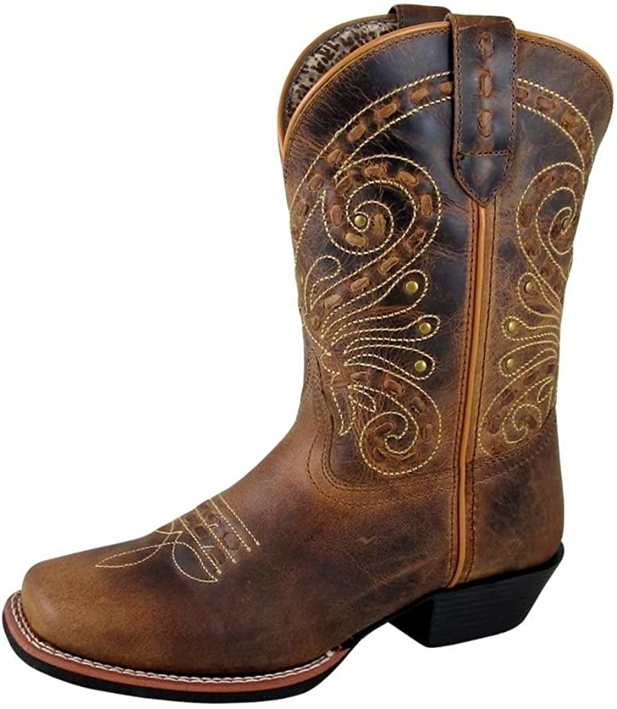 Smoky Mountain Boots  ShelbySeries   Women's Western Boot  9-Inch Height   Square Toe   Quality Leather  RubberSole & Western Heel  TricotLining & Leather Upper   Steel Shank