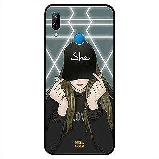 غطاء حافظة لهاتف Huawei Nova 3 مطبوع عليه She on Cap