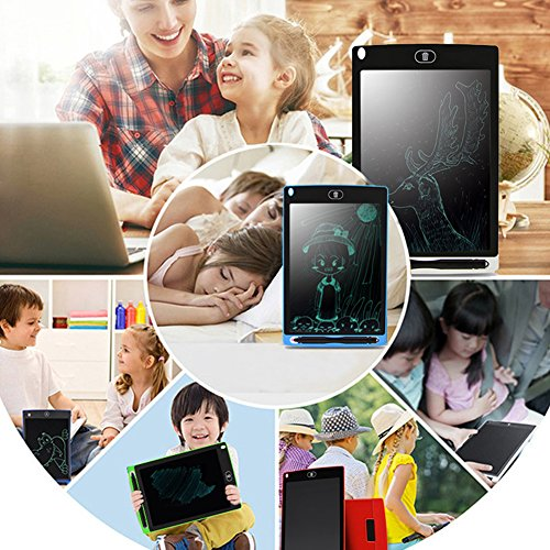 8.5 Inch LCD Writing Tablet,Electronic Writing Drawing Doodle Scribble Board Pad with Stylus Pen eWriterfor Kids Adults Home Office,Fridge Message Board Doodling Whiteboard Blackboard (Black)