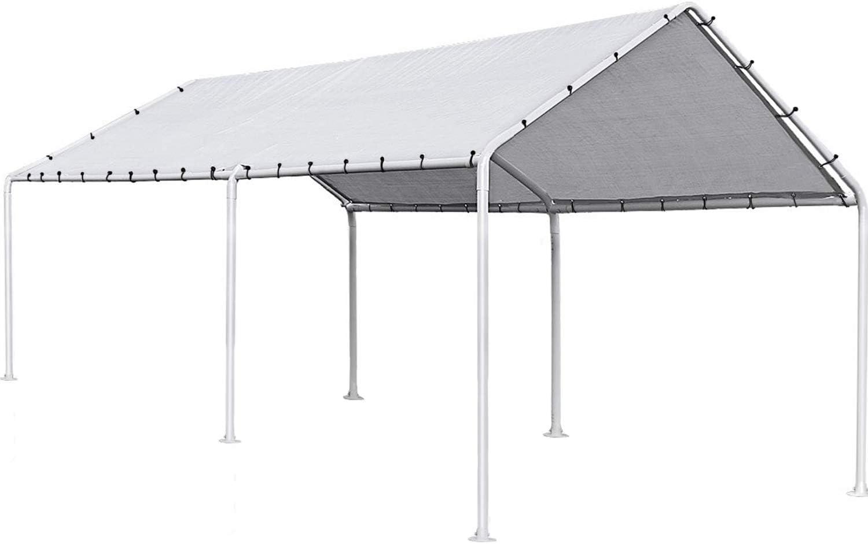 Amazon Com Fdw Carport Car Port Party Tent Car Tent 10x20 Canopy Tent Metal Carport Kits Outdoor Garden Gazebo Not Good For Strong Wind Condition Garden Outdoor